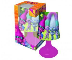 Trolls mini LED bordlampe i lilla
